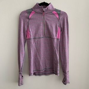 Ivivva Pink and Gray The Fastest Zip Pullover 14